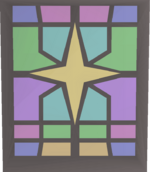 Stained glass (Saradomin) built