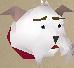 Lazy cat (white) chathead