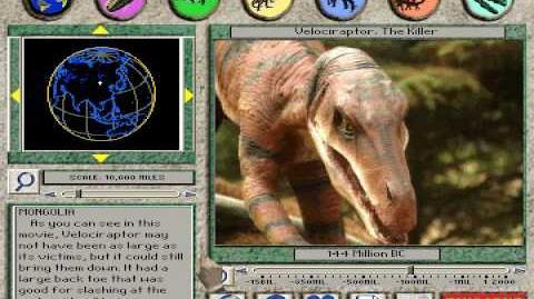 Velociraptor The Killer From 3-D Dinosaur Adventure MS-DOS Packard Bell Version