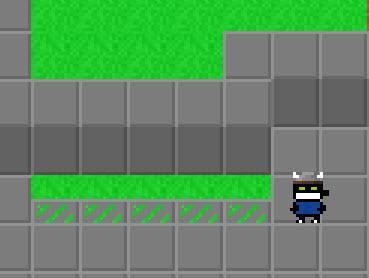 Trap filling half of the square