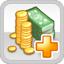 Tax Income Research Icon (White)