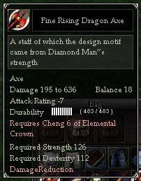 Fine Rising Dragon Axe