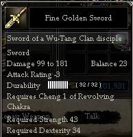 Fine Golden Sword