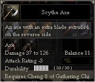 Scythe Axe