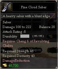 Fine Cloud Saber