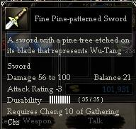Fine Pine-patterned Sword