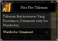 Fine Fire Talisman