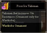 Poor Ice Talisman