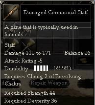 Damaged Ceremonial Staff