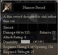 Narrow Sword