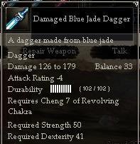 Damaged Blue Jade Dagger