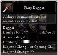 Sharp Dagger