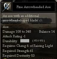Fine Arrowheaded Axe