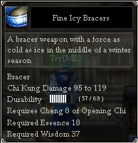 Fine Icy Bracers