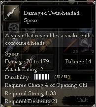 Damaged Twin-headed Spear