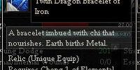Twin Dragon Bracelet of Iron