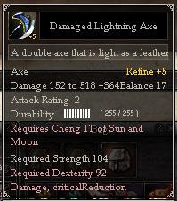 Damaged Lightning Axe