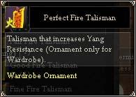 Perfect Fire Talisman