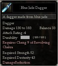 Blue Jade Dagger