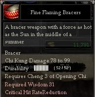 Fine Flaming Bracers