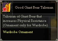 Good Giant Bear Talisman