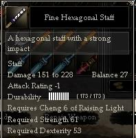 Fine Hexagonal Staff