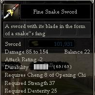 Fine Snake Sword