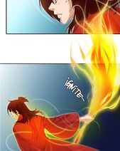 Jeokyeon's flaming sword