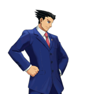 PXZ2 Phoenix Wright (full) - confident (right)