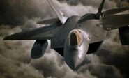 Ace Combat 7 Announcement F-22 Front