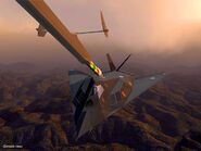 F-117A and Refueling Boom