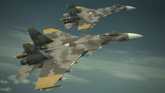 File:Su-33 -YELLOW SQUADRON- Two Flyby.jpg