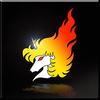 Flaming Unicorn Emblem