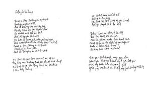 Adele - Rolling in the Deep (Handwritten Lyrics)