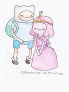Finn x princess bubblegum by stardustskittles-d3z8uv6