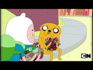 Jake explains to Finn what happened