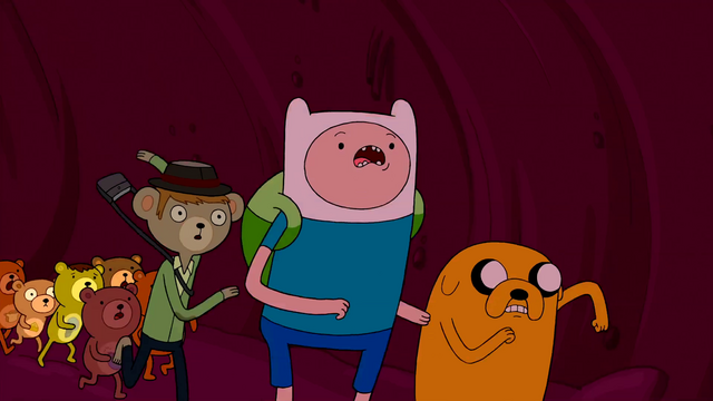 File:S2e21 Finn, Jake and bears running.png