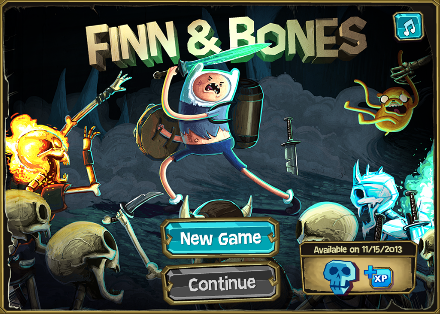 Adventure Time Finn & Bones Game Play