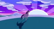 S5 e19 James Baxter galloping into the sunset