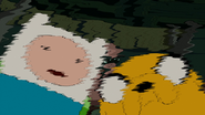 S5e28 Finn and Jake distorted