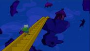 S6e1 Finn running up Jake-stairs