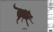 Modelsheet Wolf with Mouth Full