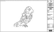 Modelsheet birdinsideout - closeup