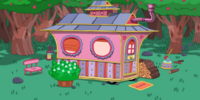 Tree Trunks' house