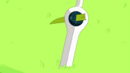 A Piece of the Grass Sword stuck on Finn Sword
