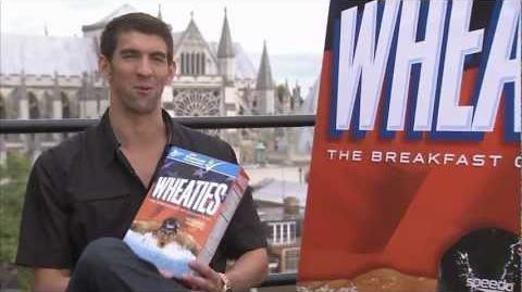 Michael Phelps on Wheaties