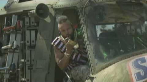 Mr. T Snickers Helicopter and Pool Advert Mr. T is Back!