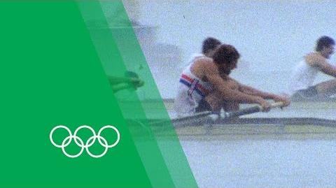 The famous Coxed 4 recount the 1984 Olympics Moments in Time