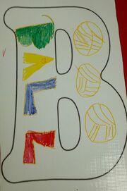 Letter B builds