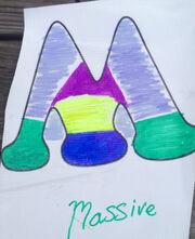 Letter m-upside-Massive